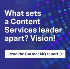 What sets apart a Content Services leader? Vision!Read the Gartner MQ report